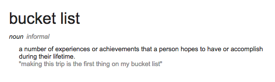 "Guys Bucket List The Concept of a ""bucket List"""